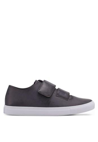 ZALORA grey Reverse Strap Velcro Fastening Sneakers 59D43SHE14D324GS_1
