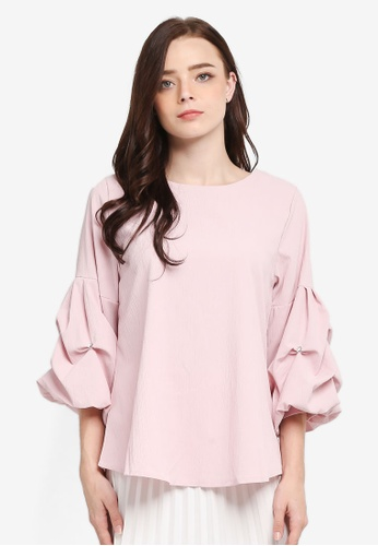 BYN pink 3/4 Sleeve Blouse 5C41EAA2BB9209GS_1