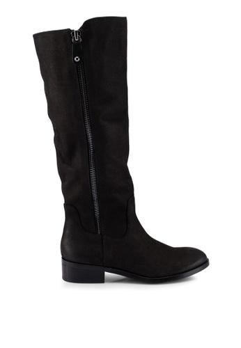 ALDO 黑色 荔枝皮皮革長靴 B9F7CSH6BBCD65GS_1