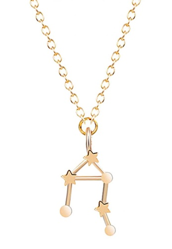 LOVENGIFTS gold LOVENGIFTS Origami Horoscope Libra Long Necklace (Gold) LO429AC40IWLMY_1