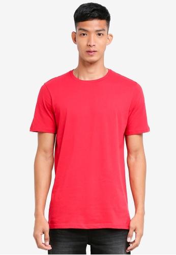 Cotton On 紅色 素色短袖T恤 1CEE0AA817C4BBGS_1