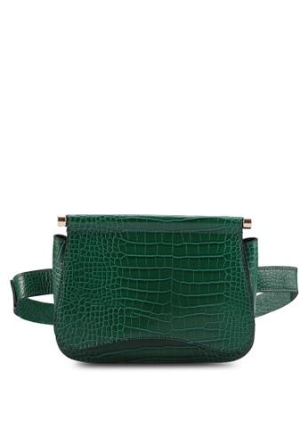 b323a7327c7 Bonnie Green Crocodile Belt Bag