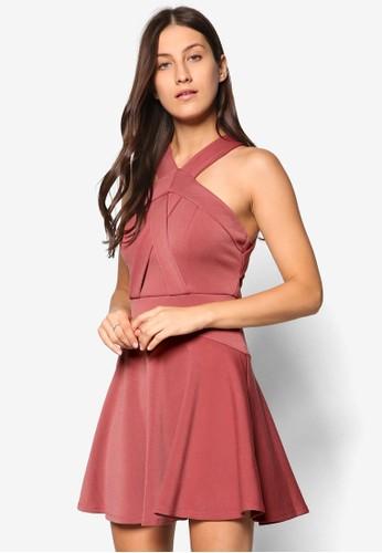前交叉帶傘擺洋裝、 服飾、 燦色奪目TOPSHOP前交叉帶傘擺洋裝最新折價