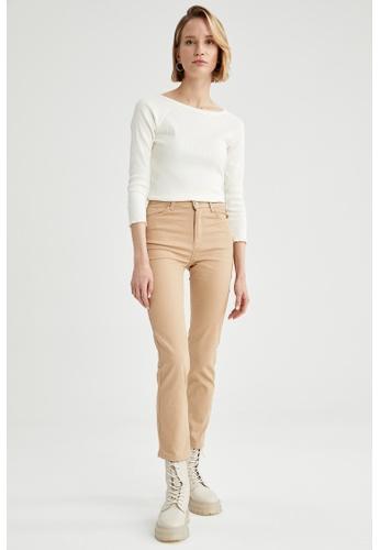 DeFacto beige Woman Woven Trouser D5B93AA0A50E91GS_1