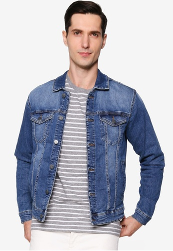 Only & Sons blue Wash Denim Jacket 45DF8AAA880983GS_1