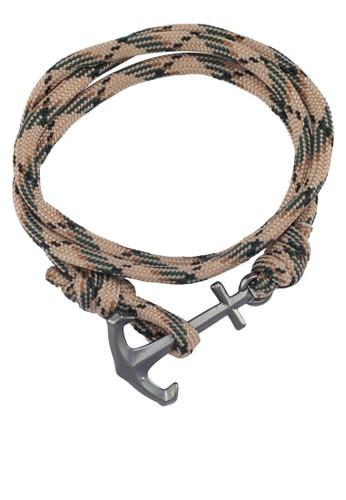 Panamesprit outlet 台中a 船錨鉤扣纏繞手環, 飾品配件, 手環