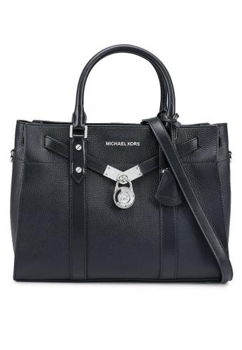 MICHAEL KORS black Nouveau Hamilton L Satchel Bag (zt) 47F4BAC4FA5742GS_1