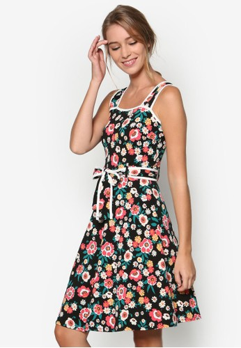 碎花無袖洋裝, 服京站 esprit飾, 洋裝
