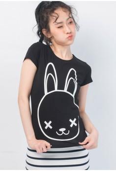 TOKIDOKI兔子短袖T恤-黑色