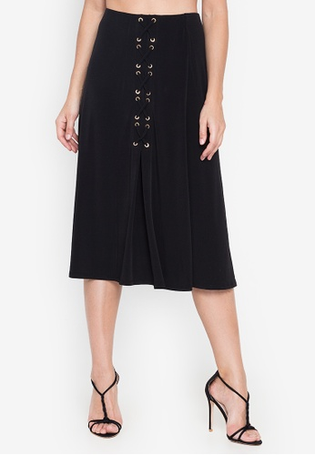 Susto The Label black Beis Tie Skirt 65DF5AAC90584CGS_1