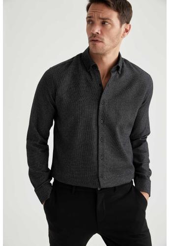 DeFacto grey Long Sleeve Shirt DD878AA843FD68GS_1