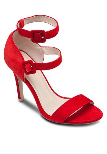 雙扣環繞zalora是哪裡的牌子踝高跟鞋, 女鞋, 鞋