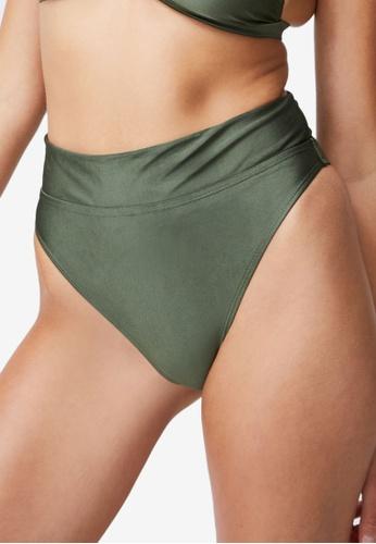 Cotton On Body brown High Waisted Cheeky Bikini Bottoms 25D28USBCA6FB9GS_1