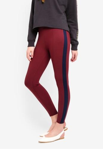 Abercrombie & Fitch red Side Stripe Leggings 37127AADB2877EGS_1