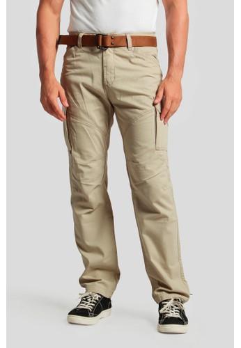 MGEE brown Mgee Cargo Pants B594BAA3D58C48GS_1