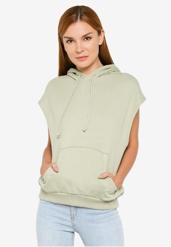 H&M green Sleeveless Hoodie 5B67EAA5359230GS_1