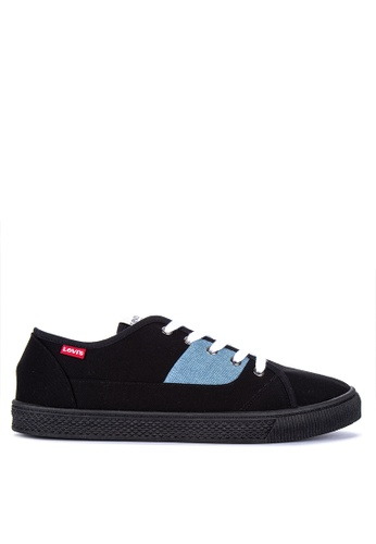Levi's black Malibu Canvas Sneakers 409F2SH38AEE95GS_1