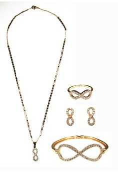Gold Infinity with Mini Stone Set with FREE Ring