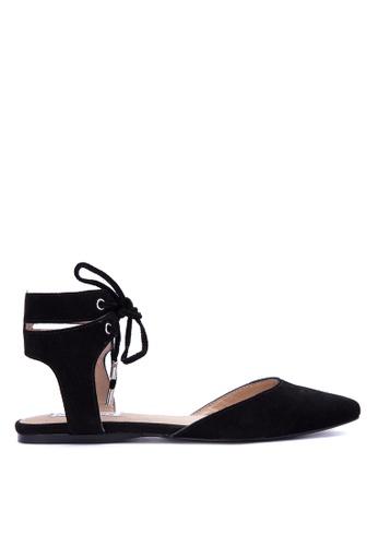 Steve Madden black Elude Leather Upper Flats ST134SH0JOIMPH_1