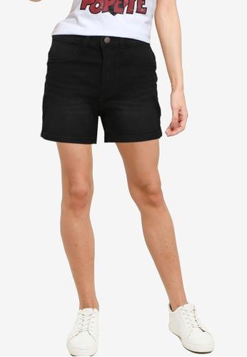 JACQUELINE DE YONG black High Waist Denim Shorts 2A787AAB021934GS_1