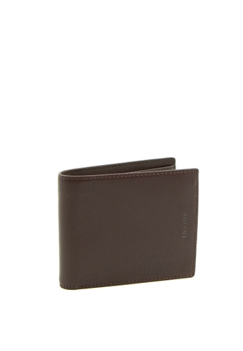 Enjoybag brown Calf Bifold Split Calf Leather Wallet 551A5AC06552CCGS_1
