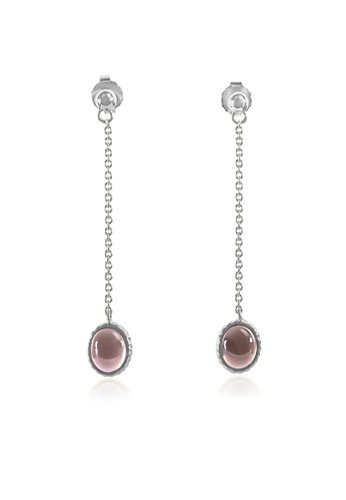 Jemocracy brown and silver JEMOCRACY - Business Classy - Dangle Earrings in silver and smoky quartz 48BA7AC3DB0C34GS_1