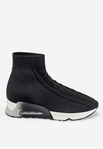 ASH black Living - Black Knit High-Top Sneakers DCBBASHEEE5269GS_1