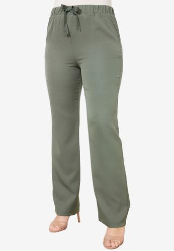 Trendyol green Straight Cut Trousers 5D0D3AAF45801EGS_1