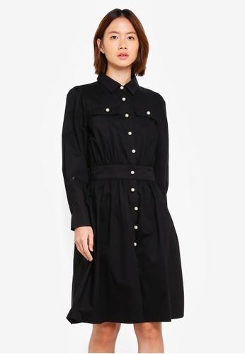 Haute Kelly black Bo-Ram Pearl Button Dress AD1DFAADB374C0GS_1