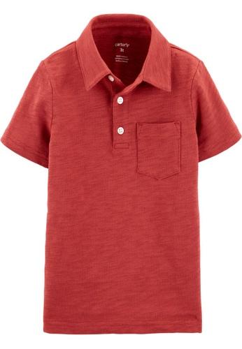 Carter's red CARTER'S Boy Red Knit Polo Shirt 81744KAB703E45GS_1