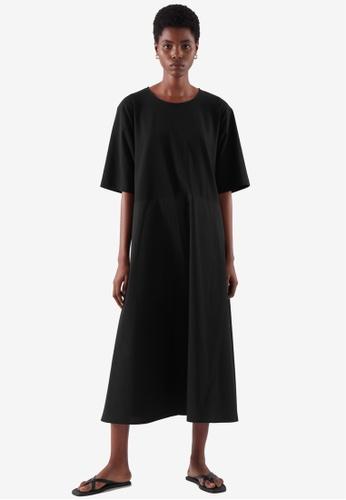 COS black Loose T-Shirt Dress B73C8AAF1004A5GS_1