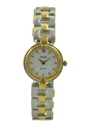 Alba gold and silver ALBA Jam Tangan Wanita - Silver Gold White - Stainless Steel - ARY70H AL383AC56ZZRID_1