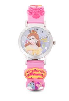 Disney Princess Girls Pink Rubber Strap Watch TG-3K1119P-PS-061PK