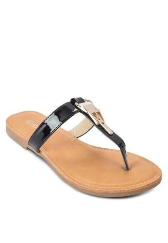 金飾夾腳涼鞋,esprit 會員 韓系時尚, 梳妝