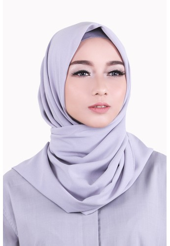 Zelena Shaylee Hijab Square - Light Grey