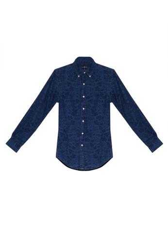 polo ralph lauren navy Indigo Jacquard Shirt 0AA7FAAB1502E0GS_1
