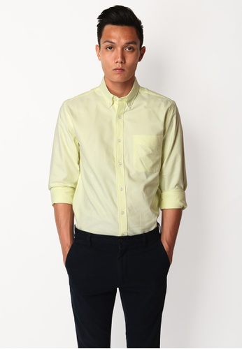 A for Arcade yellow Cotton Oxford Shirt in Pale Yellow AF376AA32GNRSG_1