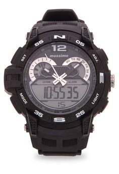 Starcross Unisex Rubber Strap Watch MS1605GBLK