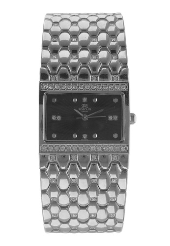 Roscani silver Roscani Bonnie B92 (Curved Crystal + Platinum Plating) Platinum Black Bracelet Women Watch 05868AC356B64DGS_1
