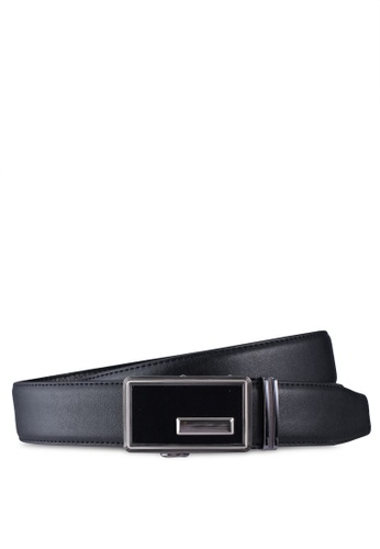 UniqTee black Dress Belt With Automatic Buckle 77CA0AC4894E9BGS_1