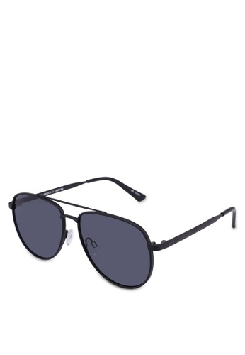 Le Specs black Hard Knock Sunglasses A622EGLB23EB77GS_1