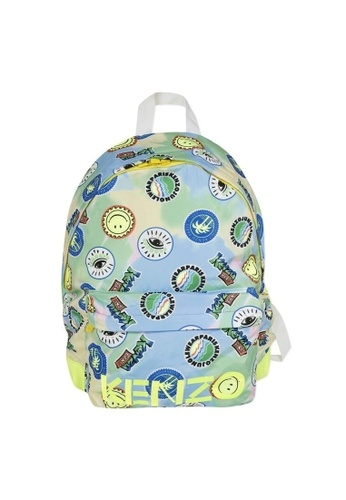 KENZO KIDS yellow and blue KENZO BOYS BACKPACK 00F9BKC450295FGS_1