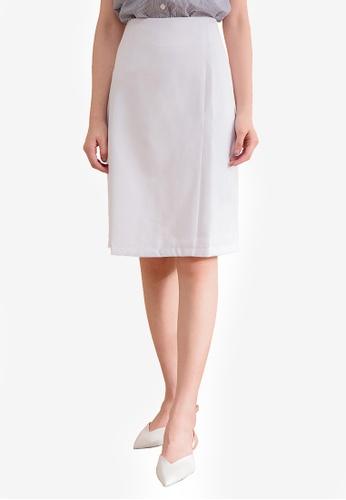 Kodz white Minimal Mini Skirt AB2FCAA1A5DECBGS_1
