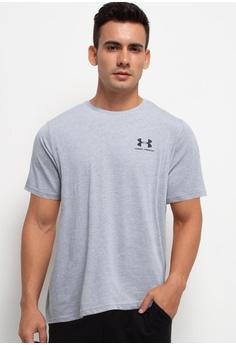 0753dccf5 Under Armour grey Sportstyle Left Chest Short Sleeve Tee A0E5FAA0B47B52GS_1