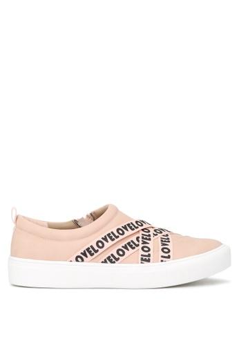 London Rag 米褐色 London Rag 女士肤色带侧边拉链休闲鞋 SH1663 C796ESH6943AF5GS_1