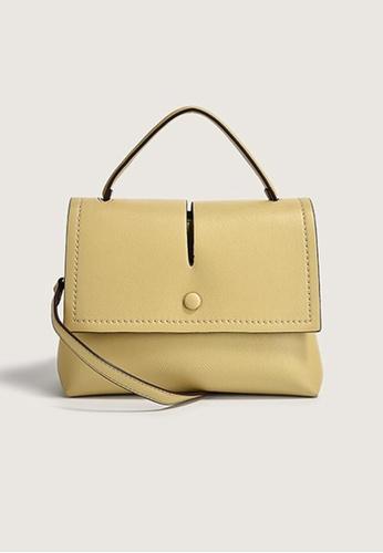 Lara yellow Women's Leather Zipper Flap Cross-body Bag - Yellow 2C354AC6F35BC2GS_1