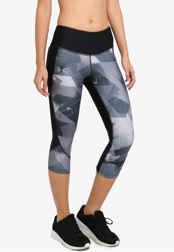 f4ee298060b0 Under Armour black Armour Fly Fast Printed Capri Pants UN337AA0SU8PMY 1