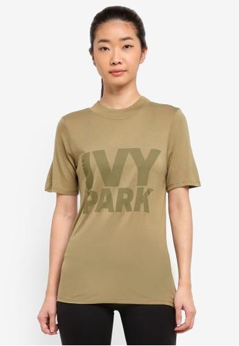 Ivy Park green Programme Fitted Logo Tee 7D5D3AAF5D2DD0GS_1