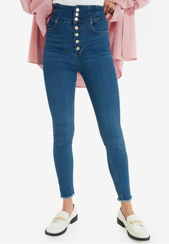 Trendyol blue Super High Waist Skinny Jeans A748EAAFA00094GS_1