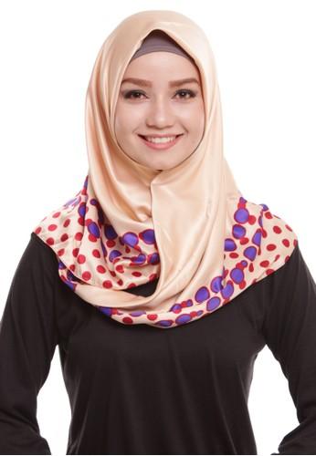 Mybamus Bubble Square Hijab Satin Cream